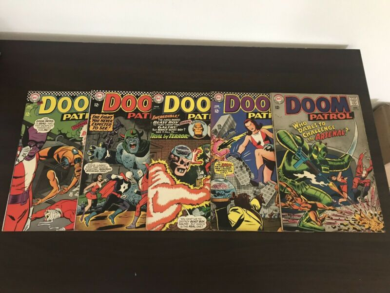 Doom Patrol #108-113 Silver Age DC Comics 1967 Colorful Covers Nice Condition