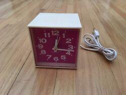 Vintage Retro Antique Westclox Electric Alarm Clock Minicube 3.5 X 3.5 X 3.5