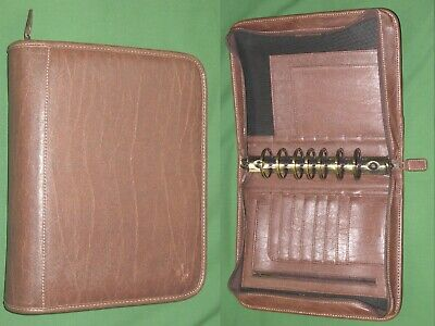 Classic 1.75 Brown Faux Leather Franklin Covey Planner Binder Organizer 468