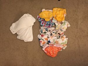 9 cloth diapers with 12 soft cotton fabric inserts