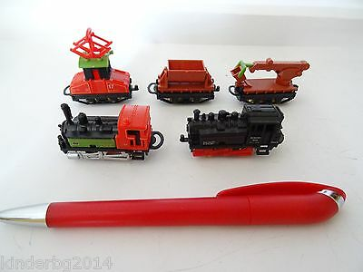 TRAIN WAGONS SET COLLECTION KINDER SURPRISE MINIATURES 1996 (Bulk Kinder Spielzeug)