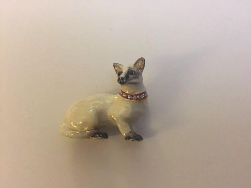 Siamese Cat Broche Pin New