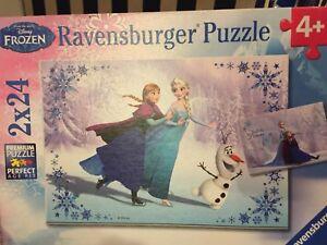 Frozen - two 24 piece puzzles