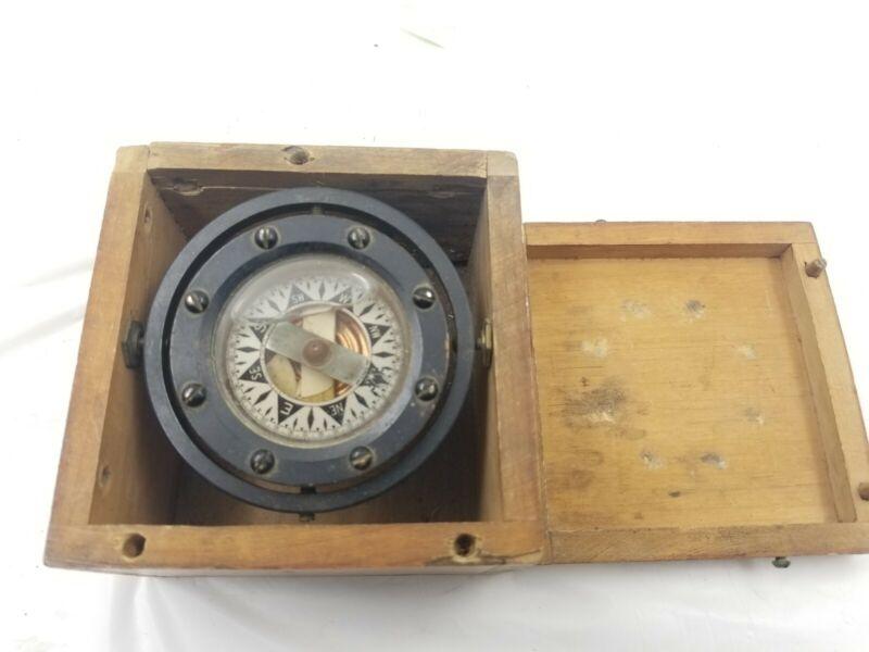 "Dirigo Antique Maritime Compass  Auburn, Washington 3"""