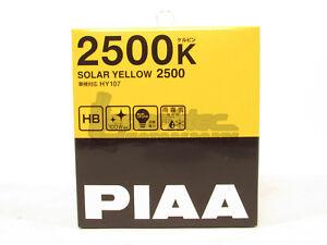 PIAA HB/9005/HB3/9006/HB4 Solar Yellow Headlight Halogen Light Bulbs Twin Pack