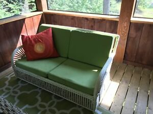 Solid wicker couch and cushions  200 obo