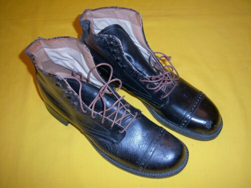 RARE 1914-1918 USMC FIELD MARCHING BOOTS NMINT UNISSUED, Sz 9 1/2