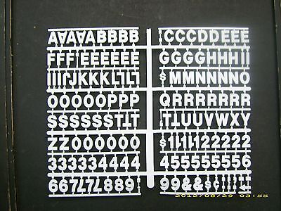 34 White Pepsi-cola Menu Board Or Message Sign Lettersnumbers Symbols