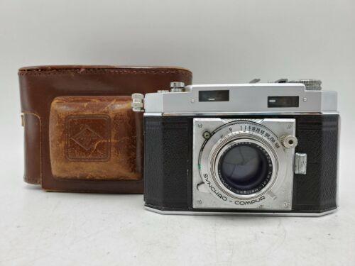 Vintage Agfa Karat 36 Folding Rangefinder Camera w/ Heligon Rodenstock A 50mm F2