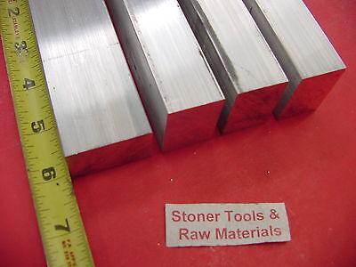 4 Pieces 1 X 1-12 Aluminum 6061 Flat Bar 6 Long T6511 1.00 Solid Mill Stock