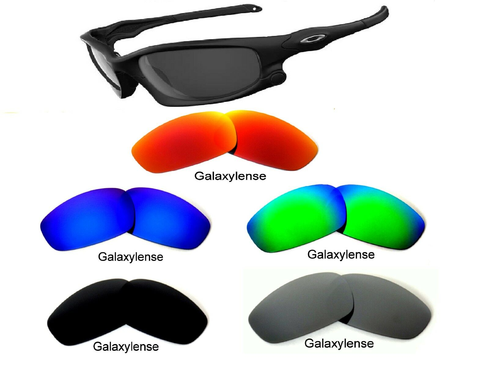 77a6a1f293 Details about Galaxy Replacement Lenses for Oakley Split Jacket 5 color  Polarized 100%UVAB