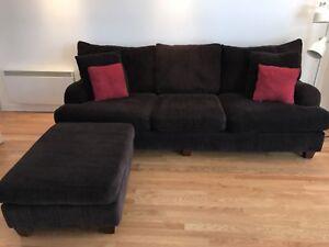 ***URGENT*** Fauteuil sofa Couch 3 places et pouf