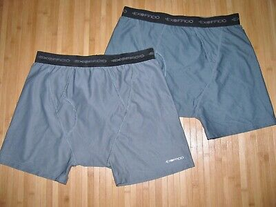 LOT of 2 EXOFFICIO Underwear BOXER BRIEFS Size MEDIUM Nylon