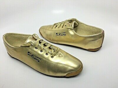 Vtg 90s LA GEAR Gold Metallic Sneakers Womens 8.5 Retro Props 1994 Shoes VGC!](90s Props)