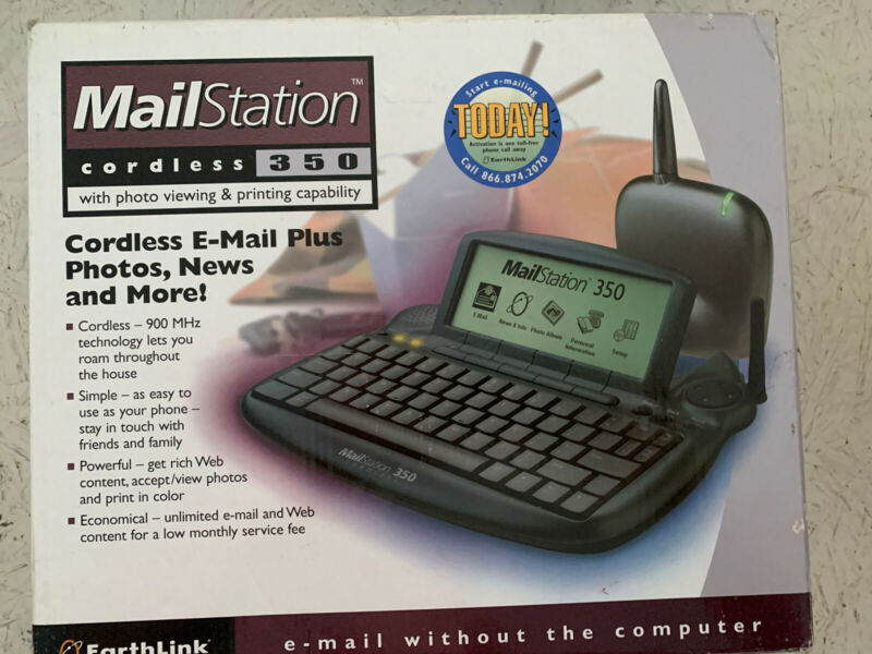 EarthLink MailStation 350 cordless, brand new in box , email without a computer