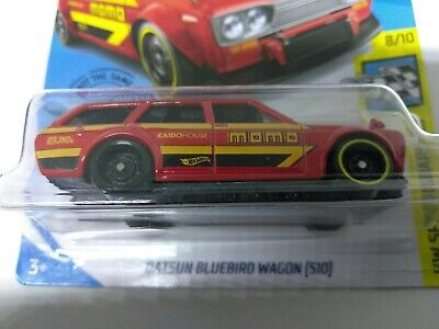 ERROR 2020 HOT WHEELS H CASE DATSUN BLUEBIRD WAGON 510 MOMO MISSING YELLOW LINE