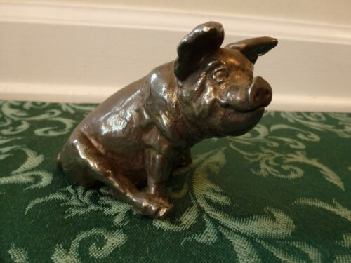 925 Sterling Silver Pig Hog Figurine 118 Grams 2 3/4