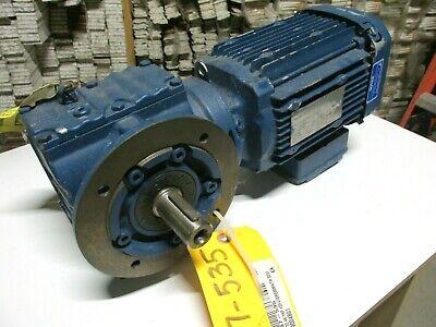 New Sew-eurodrive Gear Motor 230460v 1hp Cat Sf47dre80m4th .. Va-003