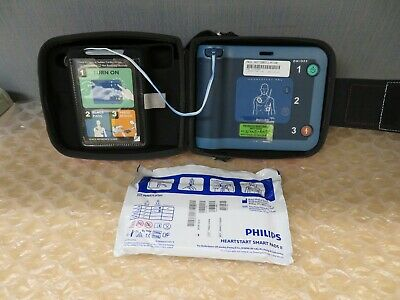 Philips Heartstart Frx Aed Onsite Home New Battery Pads Case 17804