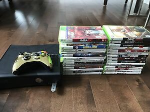 Xbox 360 slim 4 GB with 2 controllers