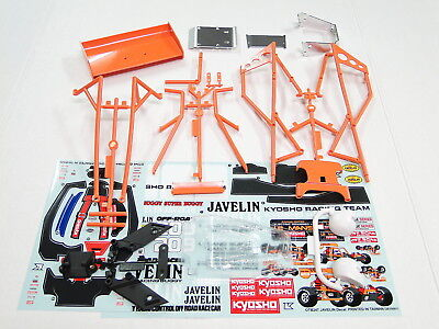 New Kyosho 4Wd Body Roll Cage   Decals Javelin Kj 8