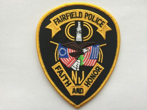 Fairfield NEW JERSEY Police Patch