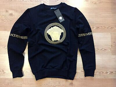VERSACE Black Color Long Sleeve Cotton  Shirt Size XL