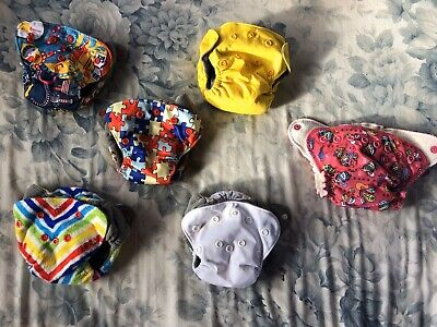 Newborn All In One Cloth Diapers,Happy Flute and Grovia