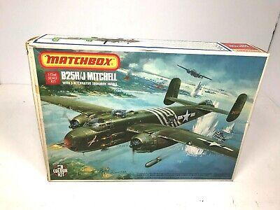 Matchbox B25H/J Mitchell 1/72 Scale Model Kit Unbuilt Complete