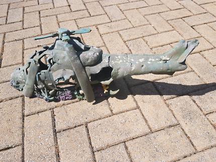 Aquarium/Pond Crashed Helicopter Ornament