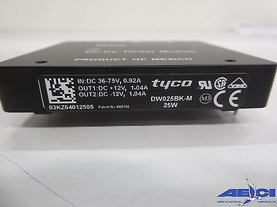 Tyco Dw025bk-m 25w Isolated Dc-dc Converter Indc 36-75v 0.92a 2 Output