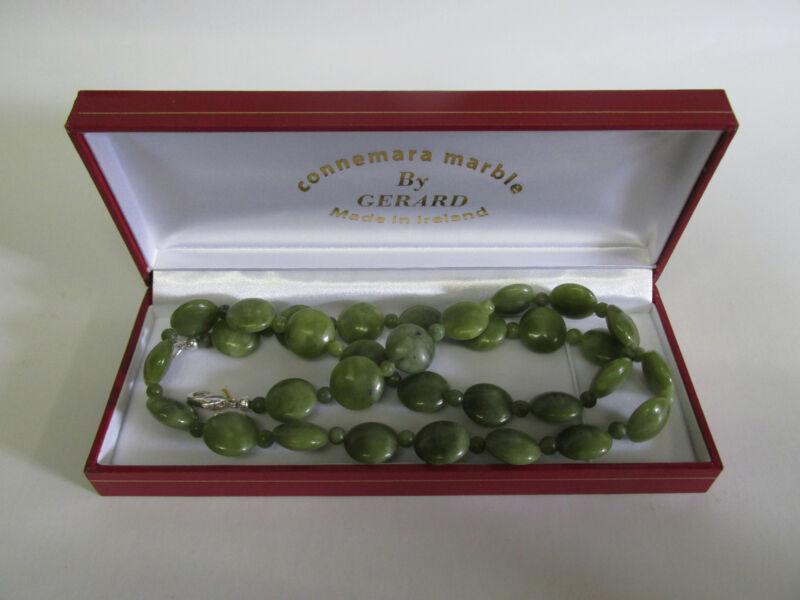 GENUINE Connemara Marble Beaded Necklace Guaranteed Irish B
