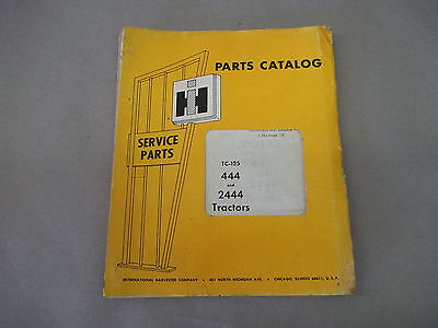 International Harvester 444 And 2444 Tractors Parts Catalog  Tc-125
