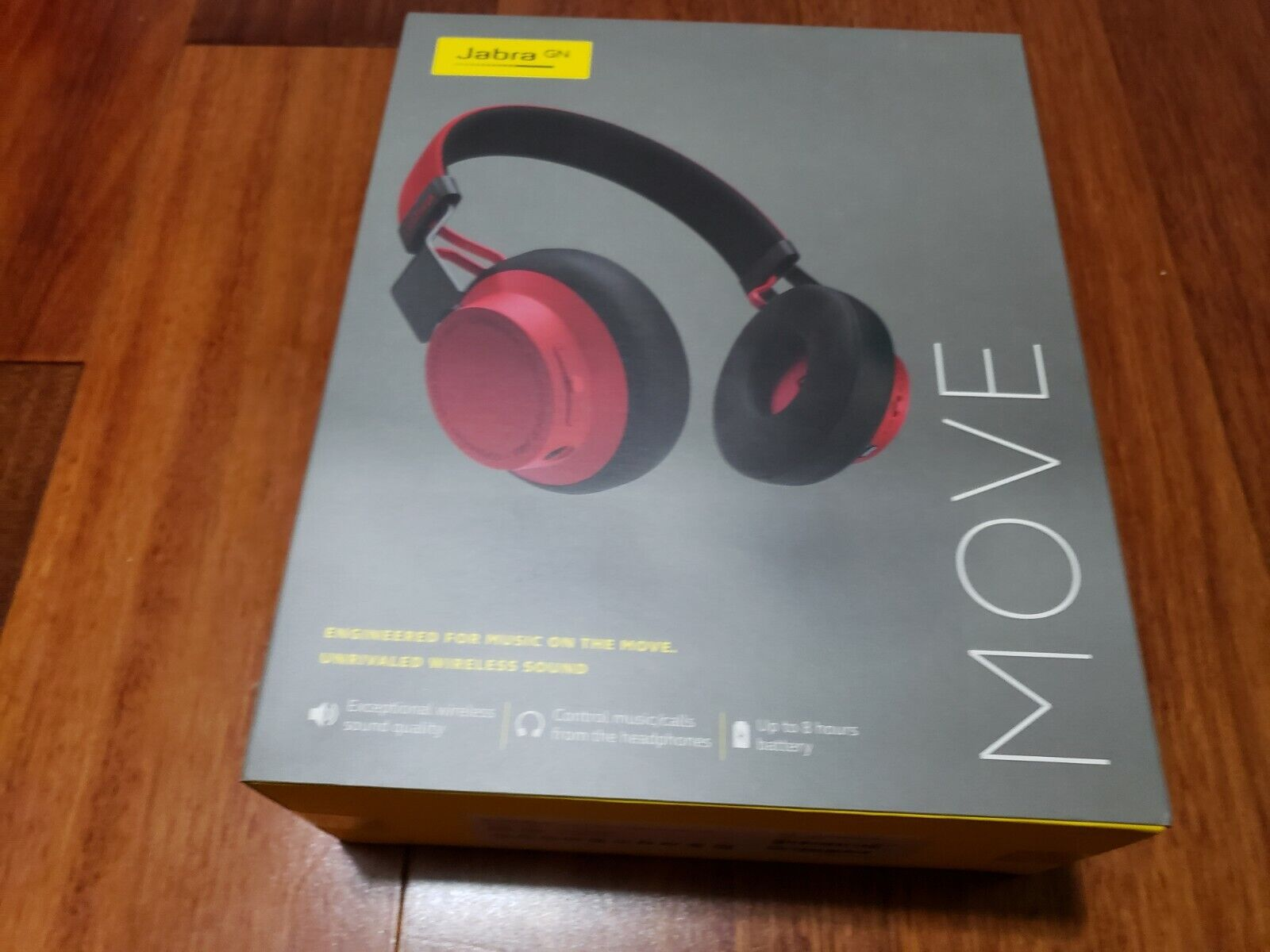 Jabra Move Wireless Stereo Headset - Red, brand new in seale
