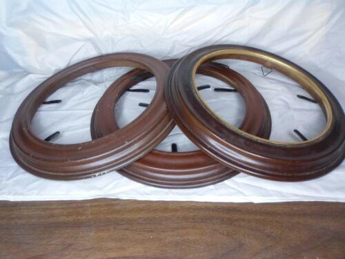 3 Van Hygan & Smythe Walnut Display Frames for eight inch + Collector Plates