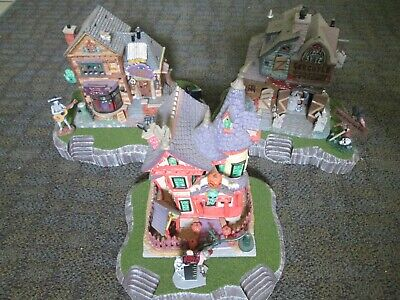 Village 56 Halloween (Halloween Village Display Platform Base Set Of 3 For Lemax Dept56 Dickens +)