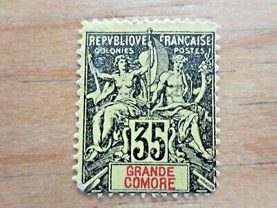 1906 Grand Comoro France Colonies Postage Stamps Scott 13 Unused Hinged - $4.99