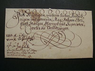 Herrlicher VORPHILA - SCHNÖRKEL-FALT BRIEF von 1719 gel. nach HELDRUNGEN - RAR