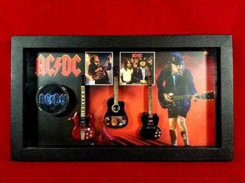 AC/DC Miniature Guitars Tribute in Shadow Box SBM1 ACDC01