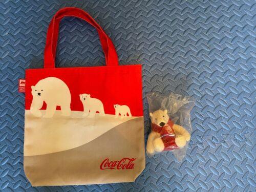 Coca-Cola Polar Bears Family Recycled Canvas Tote & Mini Polar Bear Plush