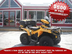 2015 CAN-AM OUTLANDER XT  BACK SEAT WITH STORAGE!! FENDER PROTEC