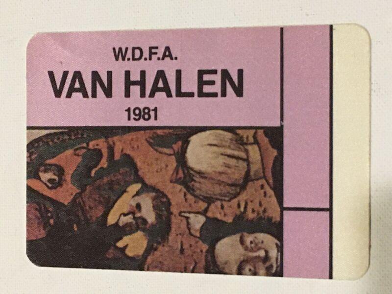Van Halen Backstage Pass 1981 Concert Light Purple