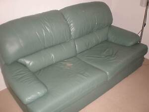 FREE Green leather lounge 2.5 seater. Pick up Hurstville Hurstville Hurstville Area Preview