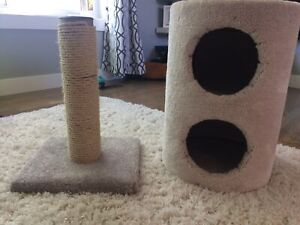 Cat house and scratching post