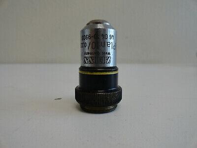 Ss6 Zeiss Plan 100.22 160- 10x Microscope Objective 46 04 10