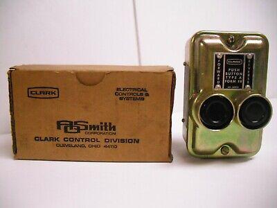 Nos Clark A. O. Smith Forward Reverse Push Button Switch Control Station Type A