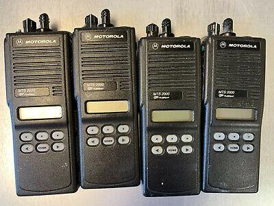 Lot Of 4 Motorola Mts2000 Model Ii 800mhz Portable 2 Way Radio H01ucf6pw1bn