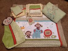Safari Nursery Set from kidsline + curtains + nappy stacker Grange Charles Sturt Area Preview