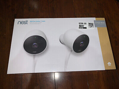 🔥BRAND NEW FACTORY SEALED🔥 Nest Cam Outdoor Security Camera (2-Pack) NC2400ES