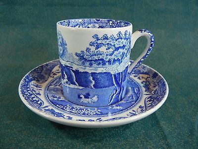 Spode Blue Italian New Mark Demitasse Cup and Saucer Set(s)
